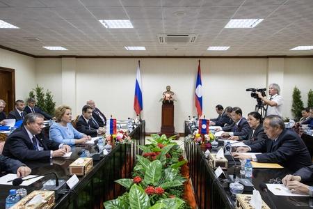 Встреча В. Матвиенко с Председателем Национального собрания Лаоса