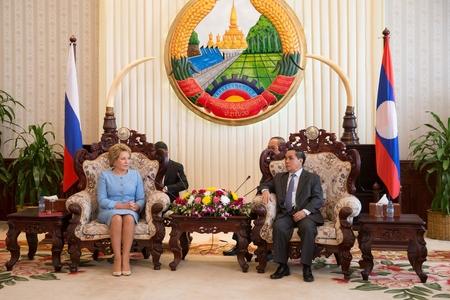 Встреча В. Матвиенко с Премьер-министром Лаоса