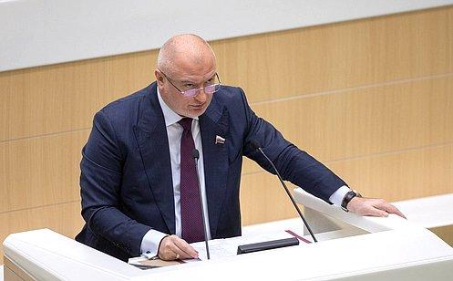 А. Клишас назначен официальным представителем Президента при рассмотрении проекта закона опоправке кКонституции РФ