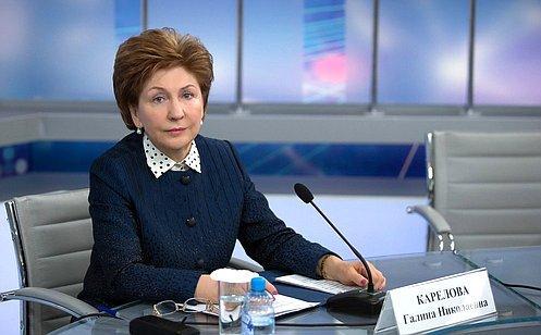 Г. Карелова: После второго чтения Федерального бюджета увеличены расходы напрограмму «Старшее поколение»