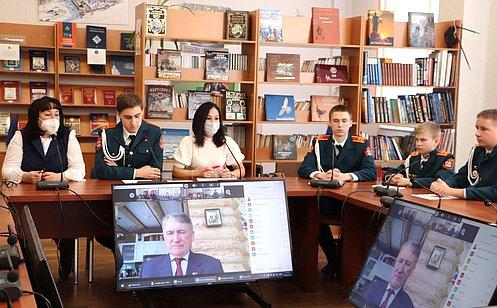 Ю. Воробьев провел урок, посвященный Дню защитника Отечества