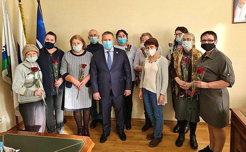 Д. Гусев: ВНенецком автономном округе уделяется особое внимание озеленению иблагоустройству территорий