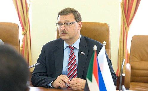 К. Косачев: Отношения между Россией иСуданом развиваются позитивно исопровождаются регулярными контактами