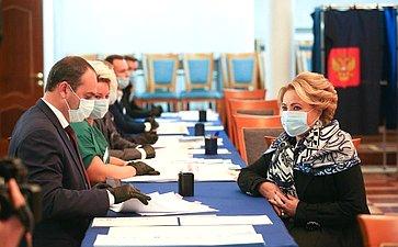 Председатель СФ Валентина Матвиенко приняла участие вголосовании навыборах вГосударственную Думу