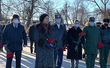Вгороде Скопине народной земле спочетом похоронен солдат Великой Отечественной войны Михаил Петрович Крейтин