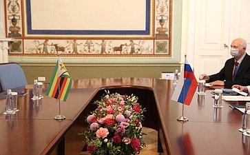 Встреча Председателя СФ Валентины Матвиенко ссупругой Президента Республики Зимбабве Ауксиллией Мнангагвой
