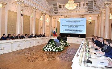 Заседание Комиссии посотрудничеству между СФ иСенатом Парламента Республики Казахстан