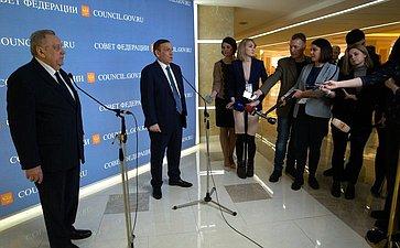 Юрий Минаков иАлександр Евстифеев вСовете Федерации