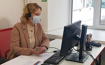 Инна Святенко врамках акции «Звонок добра» посетила крупнейший вРоссии центр поддержки волонтёрского движения «Мосволонтёр»