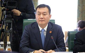 Встреча Валерия Рязанского сделегацией молодых депутатов Всекитайского собрания народных представителей Китайской Народной Республики воглаве сдепутатом Кон Тао