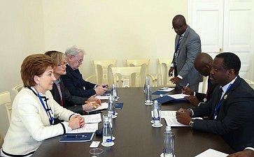 Встреча Г. Кареловой сруководителем парламентской делегации Кот д'Ивуара
