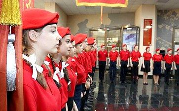 Торжественное мероприятие попринятию учащиеся уфимской школы №114 в«Юнармию»