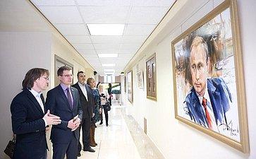 Выставка картин художника Н.Добрина вСовете Федерации