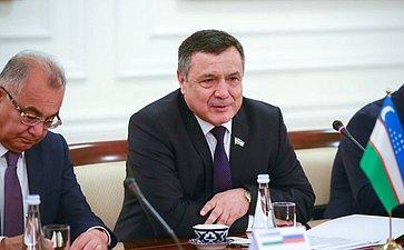 Встреча делегации СФ соСпикером Законодательной палаты Олий Мажлиса Узбекистана Н. Исмоиловым