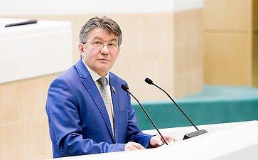 376-е заседание Совета Федерации. Озеров