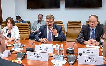 К. Косачев: Развитие российско-германских отношений– одно изприоритетных направлений работы парламентариев