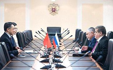 Встреча Владимира Джабаровас полномочным министром Посольства КНР вРФ Су Фанцю