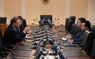 Встреча К. Косачева сделегацией Комитета поиностранным иевропейским делам Палаты представителей Мальты