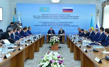 Заседание Комиссии посотрудничеству между Советом Федерации иСенатом Парламента Республики Казахстан