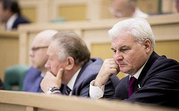 Владимир Плотников на 358 заседании Совета Федерации