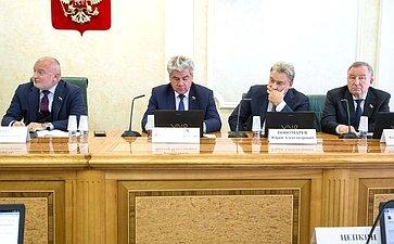 Совместное заседание Комитета СФ поконституционному законодательству игосударственному строительству иКомитета СФ пообороне ибезопасности
