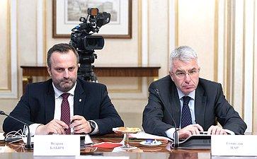 Встреча Константина Косачева сделегацией Комитета Хорватского сабора повнешней политике воглаве спредседателем Комитета Миро Ковачем