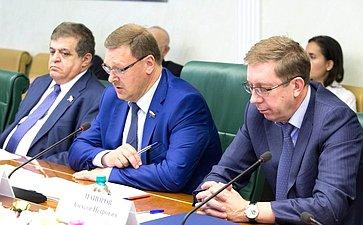 К. Косачев проводит заседание «круглого стола» натему «Россия– Франция: парламентский взгляд вбудущее»