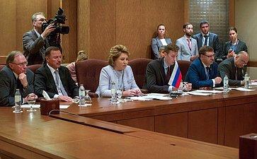 Встреча Председателя Совета Федерации Валентины Матвиенко сПредседателем Парламентской Ассамблеи ОБСЕ (ПА ОБСЕ) Кристин Муттонен