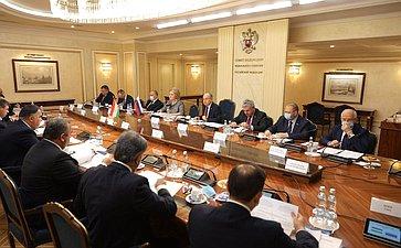 Заседание Комиссии посотрудничеству Совета Федерации иМаджлиси милли Маджлиси Оли Республики Таджикистан