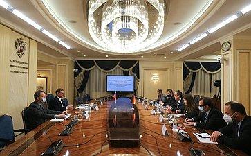 Встреча Константина Косачева состатс-секретарем Федерального министерства иностранных дел Германии Мигелем Бергером