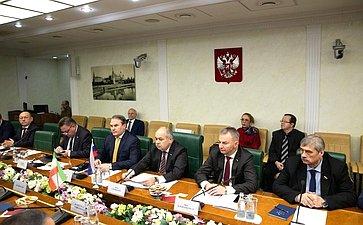 Встреча заместителя Председателя СФ Ильяса Умаханова c руководителем ирано-российской группы парламентской дружбы Собрания Исламского совета Исламской Республики Иран Рамзаном Али Собханифаром