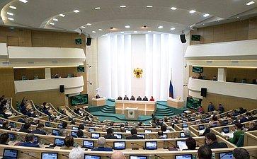 Зал заседаний на407-м заседании Совета Федерации