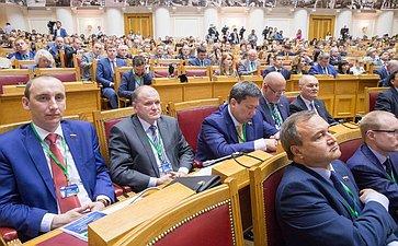 Пленарное заседание VII Невского международного экологического форума Марченко, Чернышев, Полетаев