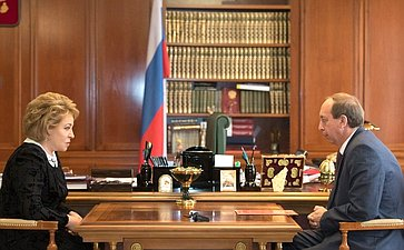 Председатель СФ В.Матвиенко встретилась сгубернатором Еврейской автономной области А.Левинталем