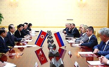 Официальный визит делегации Совета Федерации воглаве сВ.Матвиенко вКорейскую Народно-Демократическую Республику