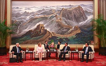 Встреча Валентины Матвиенко сПредседателем Всекитайского комитета Народного политического консультативного совета КНР (ВК НПКСК) Ван Яном