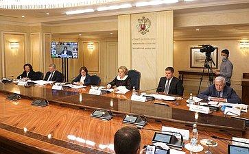Встреча руководства верхней палаты парламента, Банка России, федеральных органов исполнительной власти ипредставителей региональных банков