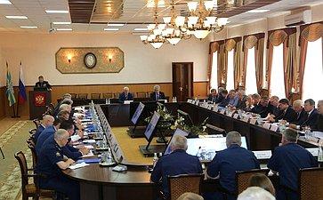Выездное заседание Комитета СФ пообороне ибезопасности натему «Правовое регулирование подготовки высококвалифицированных офицерских кадров для военной организации Российской Федерации всовременных условиях»