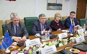 Встреча В.Рязанского спрезидентом Европейской федерации пожилых людей (EURAG) Дирком Ярре ивице-президентом Милославом Вайсом