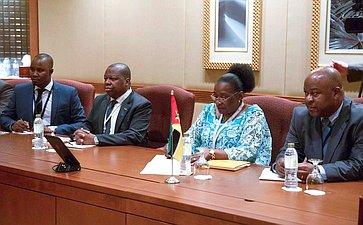 Встреча Председателя Совета Федерации Валентины Матвиенко сПредседателем Ассамблеи Республики Мозамбик Вероникой Какаму Длову