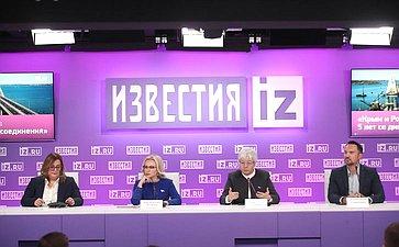 Пресс-конференция членов СФ натему «Крым иРоссия: 5 лет содня воссоединения»