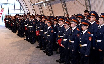 Вшколе центра «Корабелы Прионежья» впервые прошла торжественная церемония посвящения вкадеты