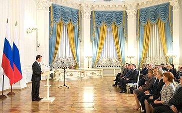 Встреча Председателя Правительства РФ Д. Медведева счленами Совета палаты Совета Федерации