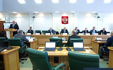 Заседание Комитетов СФ поконституционному законодательству игосударственному строительству иобороне ибезопасности