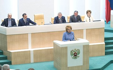 В. Матвиенко наоткрытии 419-го заседания Совета Федерации