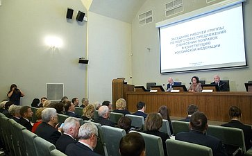 Заседание рабочей группы поподготовке предложений овнесении поправок вКонституцию РФ