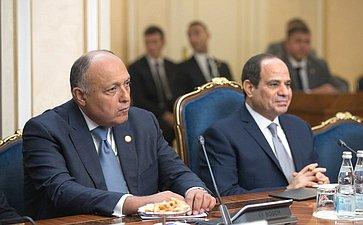 Встреча В.Матвиенко сПрезидентом Арабской Республики Египет Абдельфаттахом Ас-Сиси