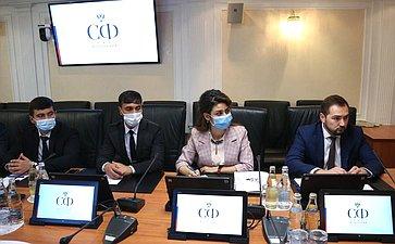 Встреча заместителя председателя Комитета СФ помеждународным делам Фарита Мухаметшина софициальной делегацией муниципальных служащих изТаджикистана