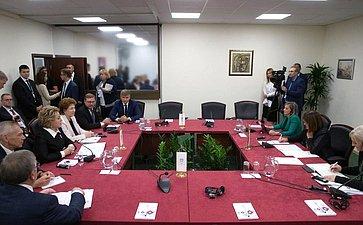 Встреча Председателя СФ В.Матвиенко сПредседателем Народной скупщины Республики Сербии М.Гойкович