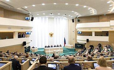 Зал заседаний на421-м заседании Совета Федерации